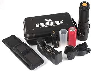 Benficial Super Bright 6000lm Genuino SHADOWHAWK X800 Linterna táctica LED Zoom Antorcha militar para acampar Ciclismo Senderismo Antorcha de emergencia Linterna (Negro)
