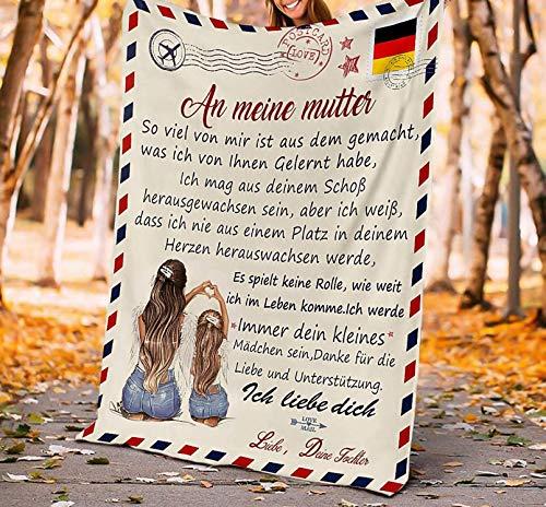 LOVEXIN Kuscheldecke Flauschige Personalisierte Decke Geschenke,Nachricht Briefdecke Mit Namen Geschenke für Für Vater, Ehemann, Ehefrau, Mutter, Sohn Super Weiche Decke Flanell,D,130 * 150