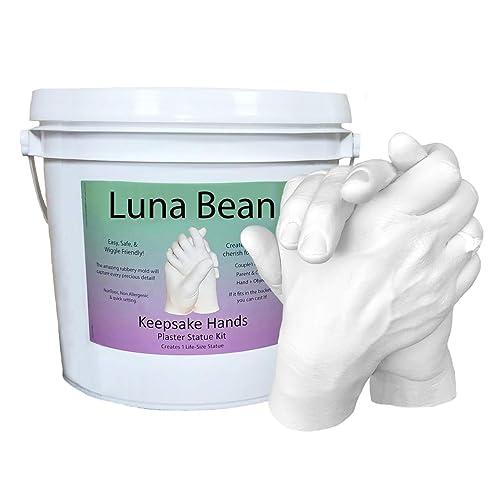 Luna Bean LARGE KEEPSAKE HANDS CASTING KIT | DIY Plaster Statue Molding Kit for COUPLES,