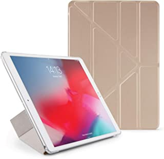 Pipetto Origami iPad Case Air 10.5 inch (2019) & Pro 10.5 inch (2017) with 5 in 1 Stand & auto Sleep/Wake Function Champag...