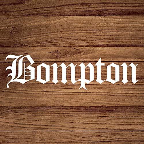 Bompton California Old English Auto-Aufkleber, Vinyl, Dekoration für Fenster, Stoßstange, Laptop, Wände, Computer, Thmbler, Tasse, Handy, LKW, Autozubehör