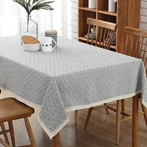 LDONGPENG LD&P Thuis tafel geometrische diamant patroon katoen en linnen tafelkleed koffietafelkleed stof tafelkleed handdoek, multifunctionele zomer picknick mat 130 * 180cm B
