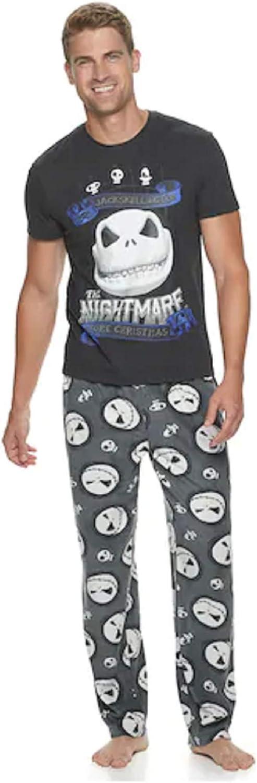 Nightmare Before Christmas Jack Skellington 2 Piece Sleep Pajama Set