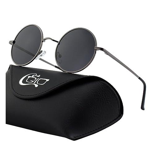 f82c676c8d CGID E01 Estilo Vintage Retro Lennon inspirado círculo metálico redondo  gafas de sol polarizadas para hombres