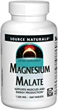 Source Naturals Magnesium Malate 3,750mg Per Serving Essential Magnesium Malic Acid Supplement - 360 Tablets