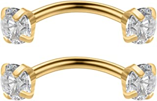 14k gold nipple jewelry