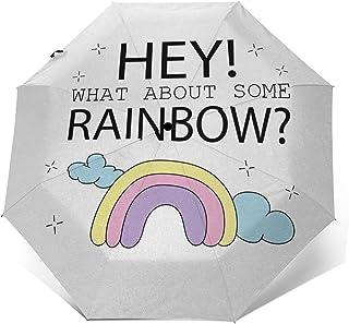Paraguas Plegable Automático Impermeable Lema de niña 661, Paraguas De Viaje Compacto a Prueba De Viento, Folding Umbrell...