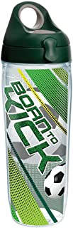 Tervis Born to Kick Tumbler with Wrap and Hunter Green with Gray Lid 24oz Water Bottle, Clear