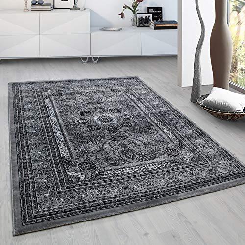 Fabelia Orient Teppich Kollektion Marrakesh - Orientalisch-europäische Designs/klassisch und modern (200 x 290 cm, Casablanca/Grau 0207)