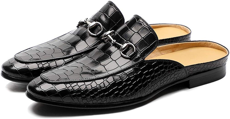 MALPYQ Läder Läder Läder baotou tofflor, herrskor, modeskor, halvtofflor, sommarskor  exportutlopp