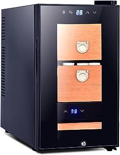 Humidors Cigarrskåp konstant temperatur cigarr skåp cederträ konstant temperatur mini kylskåp flera lager förvaring och fö...
