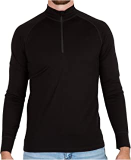 MERIWOOL Mens Base Layer 100% Merino Wool Heavyweight 400g Half Zip Sweater for Men