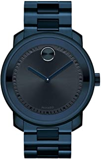 Movado Men's BOLD Metals Watch with a Printed Index Dial, Blue (Model 3600296)