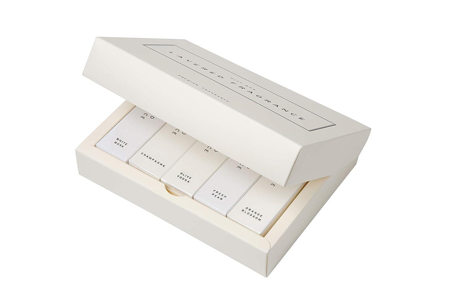 破滅的な深さ休憩LAYERED FRAGRANCE(レイヤードフレグランス) レイヤードフレグランス ボディスプレー 10mL フォーチュンセット(2本セット) LAYERED FRAGRANCE BODY SPRAY 10mL FORTUNE SET (5 scents set) 10ml×5本