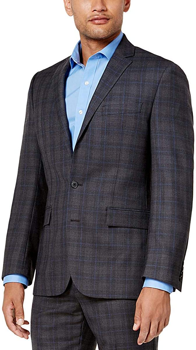 Ryan Seacrest Distinction Men's Plaid Modern-Fit Jacket