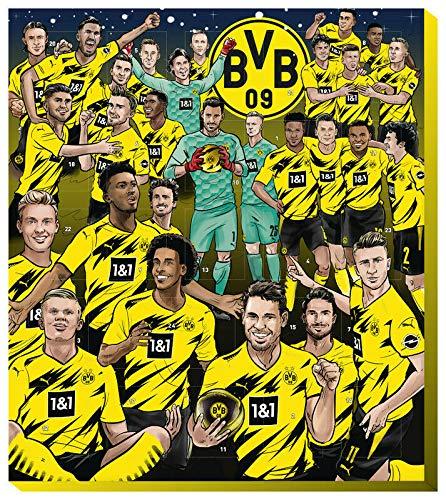 Fairtrade Borussia Dortmund Adventskalender 2020 BVB 09 Kalender Weihnachtskalender Fußball Comic Fußball (€ 9,95/100g)