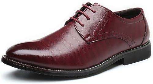 Business-Schuhe Herren Business Schuhe Klassische Matte PU Leder Obere Schnürung Atmungsaktiv Gefütterte Halbschuhe Schuhe (Farbe   Weiß, Größe   39 EU)
