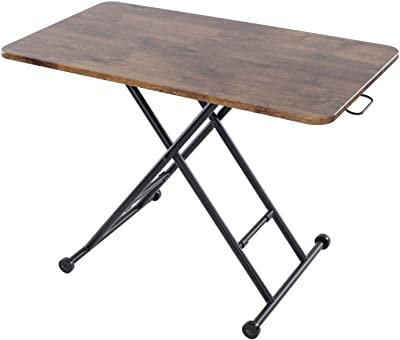 ナルミ(narumikk) ローテーブル ブラウン 100×55×11~70cm レトロなリフティングテーブル 27-347