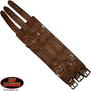 """Hot Leathers Unisex-Adult 2.5"""" 3-Strap Brown Leather Watch Band (Brown, 3"""")"""