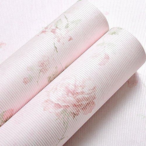 Yosot zoete pastorale grote bloemen nonwoven stof behang terug naar oude Amerikaanse behang roze