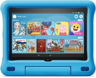 """Fire HD 8 Kids tablet, 8"""" HD display, ages 3-7, with 2-year warranty, thousands of apps, games, books and more included fo..."""