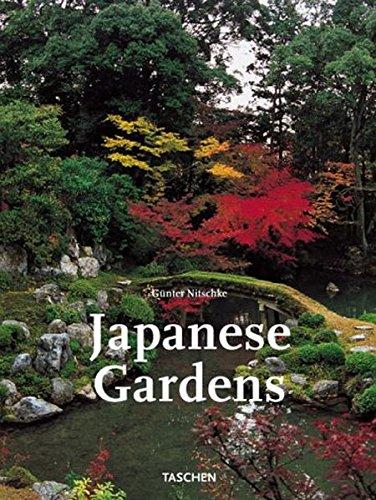 Japanische Gärten. Rechter Winkel und natürliche Form