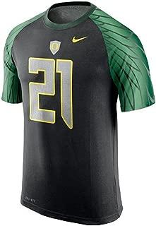 NIKE Oregon Ducks Dri-FIT Football Jersey T-Shirt - #21 Black