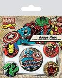Badgepack 5 Pezzi Marvel Retro Captain America...