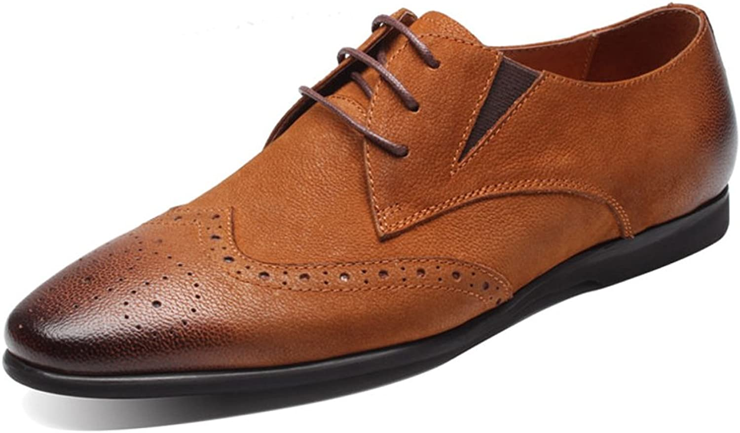 UNbox Mens Leather Classic Pointed Oxford Lace-Up Formal Dress shoes