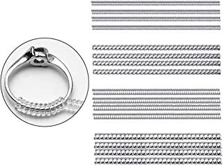 Ring Guard, Ring Size Adjuster for Loose Ring Clear Silicone Soft Spiral Ring Tightener Set 16 Pcs in 4 Size