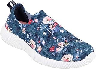 KazarMax Women Navy Blue Printed Training Slip-On Shoes