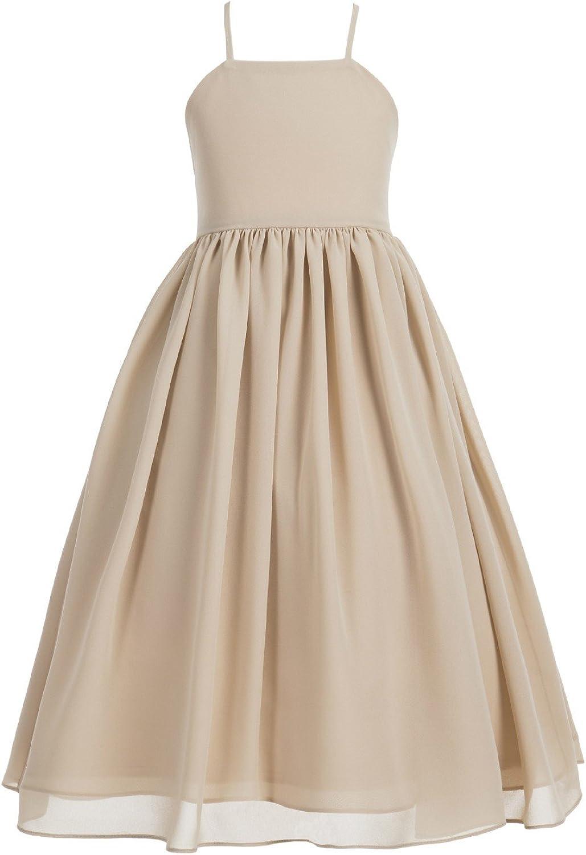 Criss Cross Chiffon Formal Flower Girl Dresses Junior Bridesmaid Dresses 191