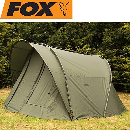 Fox Royale 2 man Euro - Angelzelt zum Waller- & Karpfenangeln, Zelt zum Ansitzangeln, Karpfenzelt für 2 Personen, Angelcamp