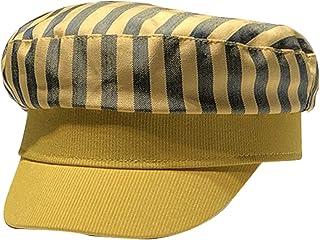 AMOYER Marine Unisexe Coton /à Rayures Chapeau Casual Femmes Beret Cap Soleil Casquette