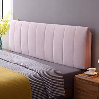 Large Bolster Headboard Backrest Support Cushion, Memory Foam Reading Pillow Holders Long Pillow Bed Lumbar Pad with Removable Cover-Pink 47x23x4inches(1205810cm)