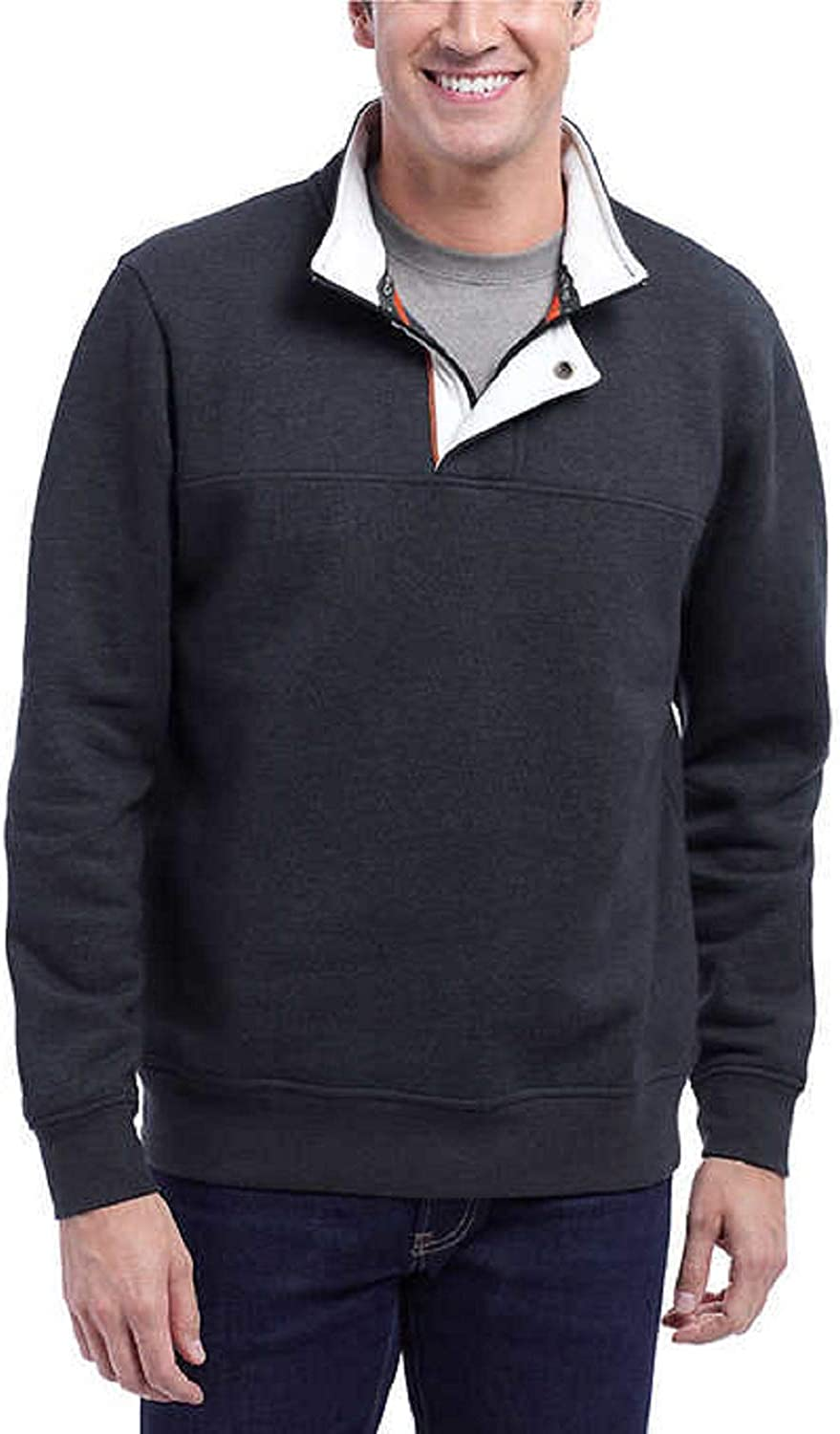 Orvis Mens Signature Pullover (Charcoal/White