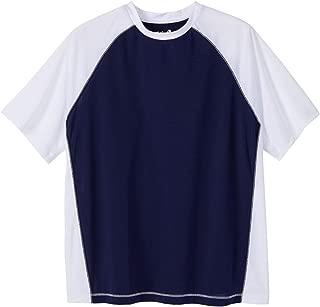 Kingsize Men's Big & Tall Raglan Sleeve Swim Shirt