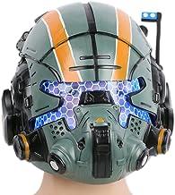 Xcostume Jack Cooper Helmet Deluxe Green Resin LED Mask for Men Halloween Cosplay