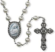 Sacred Traditions Madonna with Child A Mother's Kiss Cameo Centerpiece Rosary