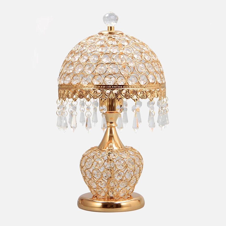 Lesen beleuchtete Tischlampe,Europäische Kristalllampe Nachttischlampe Nachtlicht LED Tischlampe Dekorative Tischlampe Schlafzimmer Hochzeitszimmer   Wohnzimmer Netzschalter, A B07FNMZQ53     | Großer Verkauf