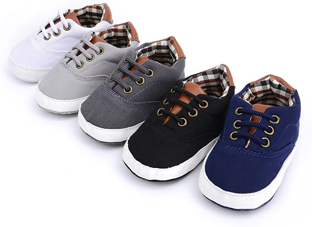 Baby Boys Girls Max 44% OFF Toddlers Canvas Anti-Slip Max 50% OFF Outdo Sneakers Lace Up