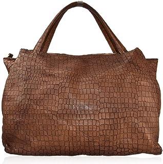 BZNA Bag Leona cognac braun Italy Designer Damen Handtasche Schultertasche Tasche Leder Shopper Neu
