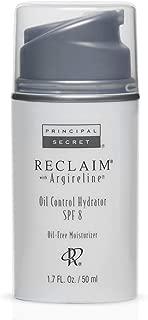Principal Secret – Reclaim with Argireline – Oil Control Hydrator – Broad Spectrum SPF 8 – 90 Day Supply/1.7 Ounces