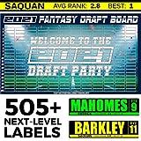 Fantasy Football Draft Board 2021 [ 10 Team, 12 Team,14 Team Boards ] (12 Team 20 Round)