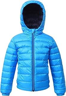 Rokka&Rolla Boys' Ultra Lightweight Hooded Packable Puffer Down Jacket