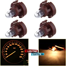 cciyu Pack of 4 Replacement fit for Dash A/C Climate Control Instrument Cluster Panel Dashboard Gauges Light Warm White T3 Neo Wedge Halogen Bulb 12V