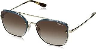 VOGUE Women's 0vo4112s Square Sunglasses, Pale Gold, 56.0 mm