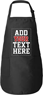 Personalized Aprons for Women & Men - ADD Your Text Number - Custom Apron with Pockets