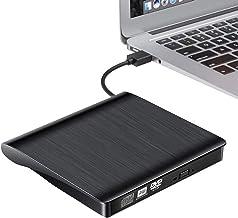 Externes CD DVD Laufwerk Brenner, USB 3.0 tragbares CD Laufwerk, CD/DVD+/-RW, CD-/DVD-ROM..