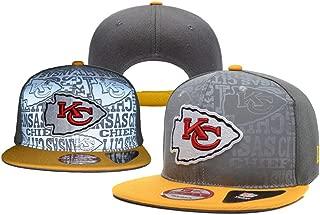 NFHACC Adult Men's Kansas City Chiefs Snapback Cap Adjustable Hat